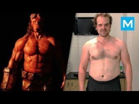 david harbour do hellboy treino insano antes e depois