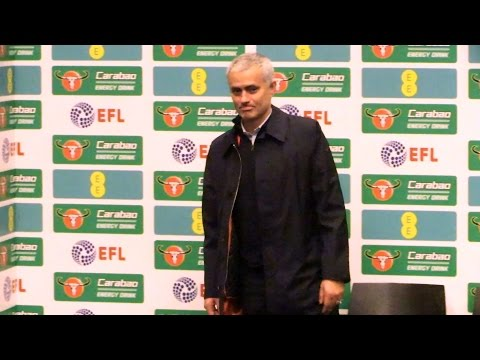 Manchester United 3-2 Southampton - Jose Mourinho Full Post Match Press Conference - EFL Cup Final (видео)