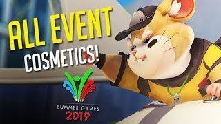 ALL NEW SUMMER GAMES 2019 COSMETICS | OVERWATCH ANNIVERSARY 2019 SEASONAL EVENT