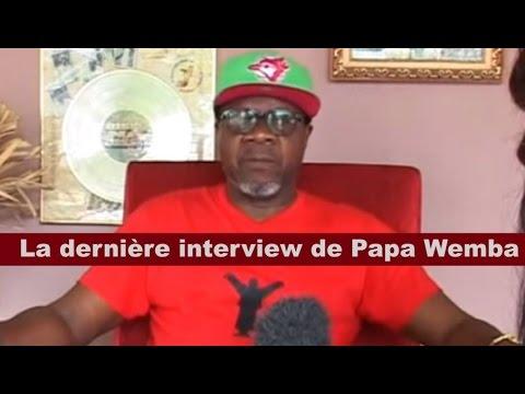 Télé 24 Live: La dernière interview de Papa Wemba le roi de la rumba congolaise