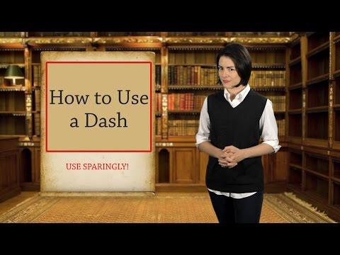 English Grammar Basics: How to Use a Dash (видео)