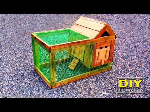 Making a Beautiful Mini Chicken Cage at Home   How To Make Chicken coop