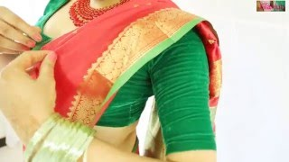 XxX Hot Indian SeX How To Wear Wedding South Indian Silk Saree Perfectly To Look Beautiful .3gp mp4 Tamil Video