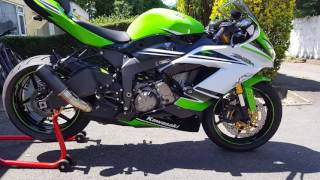 1. 2015 Kawasaki ZX6R 30th Anniversary Walkaround and Rev FOR SALE