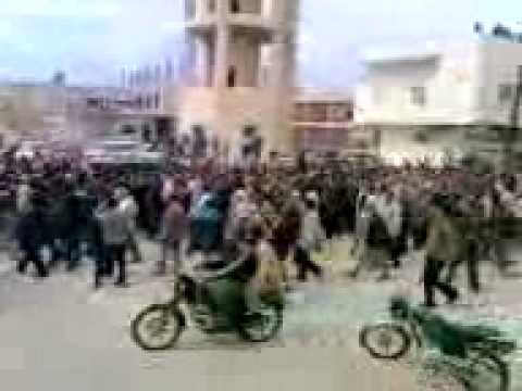 Mass Syrian protests in Daraa city on 20/March.