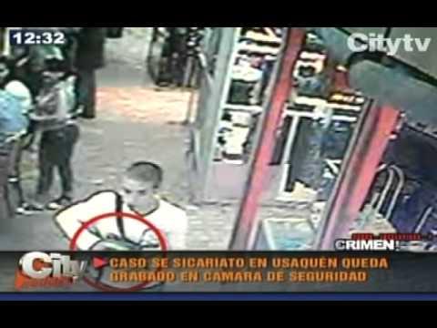 Camara de seguridad registró asesinato en el norte de Bogotá