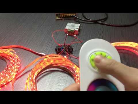 15meter rgb led strip connected in parallel