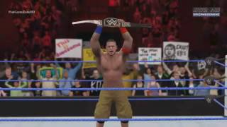 WWE No Mercy 2016 - John Cena VS AJ Styles VS Dean Ambrose (WWE World Heavyweight Championship) HD