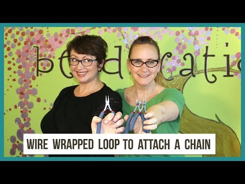 Attach A Pendant To Chain Using A Wire Wrapped Loop - From Beaducation Facebook Live Episode 17