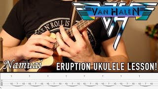 Eruption Goes Ukulele! Guitar Lesson (With Tabs)