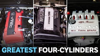 A lot of four-cylinder engines get overlooked because they have as much flair as a side salad. But there are a few 4-pots that quickly gained iconic status. Here they are!SUBSCRIBE: http://bit.ly/CTSubscribeVISIT OUR SHOP: https://shop.carthrottle.com/SNAPCHAT! http://bit.ly/CTSNAP----- Follow Car Throttle -----Subscribe to Car Throttle: http://bit.ly/CTSubscribeOn our website: http://www.carthrottle.comOn Facebook: http://www.facebook.com/carthrottleOn Twitter: http://www.twitter.com/carthrottle----- Music by -----Tom Kent: http://www.tomkentmusic.co.ukYouTube: http://youtube.com/tomkentmusic----- Credits -----Special thanks to… PerformanceCarsSubscribe: https://www.youtube.com/channel/UCwGEYV95-sEqU4YMR3Ha6lw Rhys Green Kenny Crumlish Ferrari 458http://bit.ly/2sZVk2Z Golf Rhttp://bit.ly/2tsWmWn Golf R 400http://bit.ly/2sqijWl EVO Xhttp://bit.ly/2urY1bBBusso Enginehttp://bit.ly/2c7VnyYAlfa Romeo 156 1https://www.youtube.com/watch?v=tKwN3sZuR5w Alfa Romeo 147 1https://www.youtube.com/watch?v=ax323uRK_kA Alfa Romeo 156 2https://www.youtube.com/watch?v=zn1GQflq83k Alfa Romeo 156 3https://www.youtube.com/watch?v=MESHiky7pvM Alfa Romeo 147 2https://www.youtube.com/watch?v=zi8m8owUQpA Alfa Romeo 166http://bit.ly/2c7VnyY Volvo 740http://bit.ly/2sZtiEz Volvo 740 2http://bit.ly/2t9rO9z Volvo 740 3http://bit.ly/2tyui42 SR20DET Enginehttp://bit.ly/2cCMW2s SR20DET Engine 2http://bit.ly/2cC8nhg SR20DET Engine 3http://bit.ly/2cpv6xS Imprezahttp://bit.ly/2bTzemK Volvo B230FT Enginehttp://bit.ly/2u77qWr Silvia - PerformanceCarshttps://www.youtube.com/watch?v=3Aw0mkdxkwM Toyota Altezzahttp://bit.ly/2u7cWs2 3S-GE Enginehttp://bit.ly/2spCMKT
