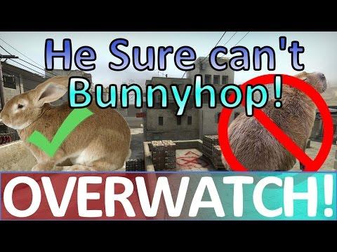 He sure can't Bunnyhop! CS:GO OVERWATCH! (видео)