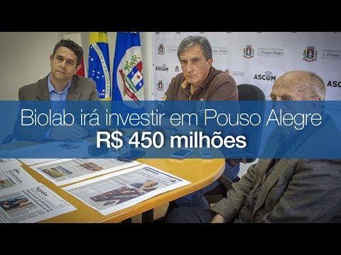 Biolab Farmacêutica vai investir R$ 450 milhões em fábrica em Pouso Alegre, anuncia Rafael Simões