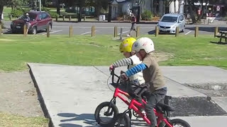 Too Cute: 4 Year Old BMX Twins