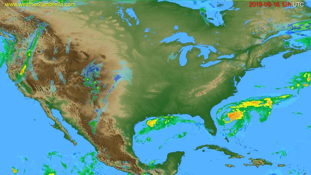 Radar forecast USA & Canada // modelrun: 00h UTC 2019-09-16
