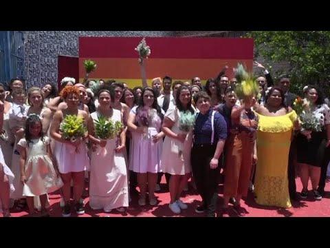 Ομαδικός γάμος ομοφύλων ζευγαριών στο Σάο Πάουλο