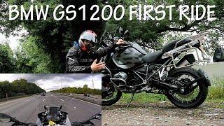 10. 2017 BMW GS 1200 Adventure Triple Black Test Ride, first time! Vlog 026