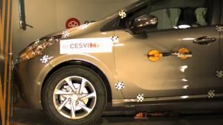 Crash Test delantero Peugeot 208 en CESVIMAP