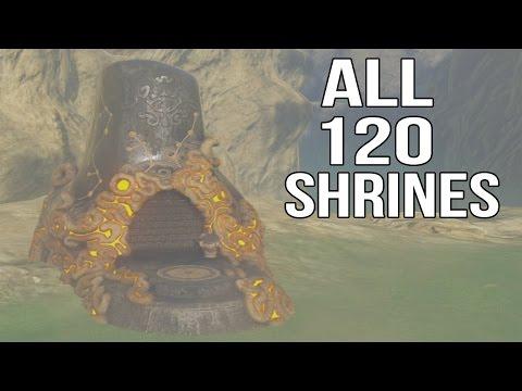 Zelda Breath of the Wild - All 120 Shrines