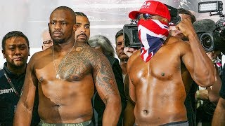 Dereck Chisora vs Dillian Whyte FULL WEIGH IN & FACE OFF | Matchroom Boxing