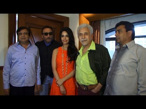 Press Conference Of Film Dirty Politics With Mallika Sherawat, Naseeruddin Shah, Jackie Shroff