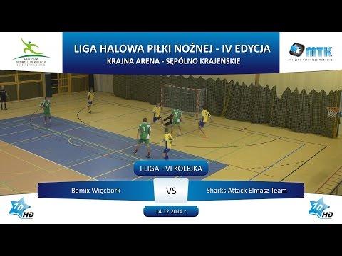 I Liga - VI Kolejka: Bemix Więcbork  - Sharks Attack Elmasz Team 4:9, 14.12.2014 r.