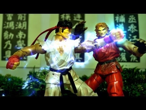 Street Fighter Stop Motion - Ryu VS Ken