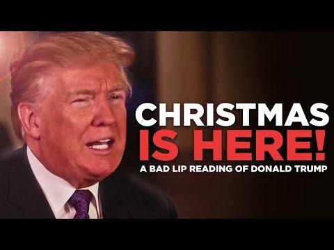0 - See Donald & & Melania Trump Sing An Original Bad Lip Reading Christmas Carol!