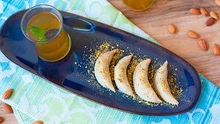 Masitas rellenas con pasta de almendra casera (Cornes de gazelle)