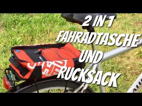 2 in 1 Gepäckträgertasche & Rucksack von Roswheel im Review Test
