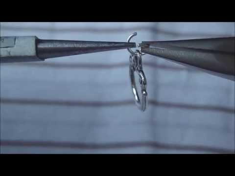 Schmuck selber machen – Technik: Einen Spaltring öffnen und schließen