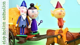 Subscribe to my channel https://www.youtube.com/channel/UCIg36eyhkbmPd74AG5l2bTQ?sub_confirmation=1Wise Old Elf & Nanny Plam's Car Service Ben & Holly's Little Kingdom Stop Motion AnimationBen and Holly's Little Kingdom. Somewhere, hidden amongst thorny brambles, is a little kingdom of elves and fairies. Everyone who lives here is very, very small....Ben Elf and princess-fairy Holly are most important characters of the cartoon in English. Each episode is a new adventure of our heroes. Watch all episodes in compilation and you better get to know who Ben and Holly are,  who their friends are and who live near Ben and Holly, like Ladybird Gaston, Nanny Plum, Wise Old Elf,  King Thistle, Queen Thistle, Holly's little sisters Daisy and Poppy, Mr. Elf, Mrs. Elf, Redbeard Elf Pirate, little girl Lucy, caterpillar Betty, Big Bad Barry, Santa Claus and Christmas elves, Bobby the bee, alien Zyrus, Bong planet, dwarwes, Mrs. Witch. Also watch compilations of all episodes without frames and all new episodes 2017 Ben & Holly's Little Kingdom and you will know what is the elf windmill, planet Bong, a picnic on the moon,  jelly flood,  chickens ride west,  The elf factory, The elf rocket, The elf submarine, north pole, jorney to the center of the earth, snow, what happens with the stars and many more....