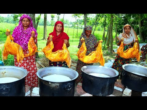 MUTTON BIRIYANI - 4 Full Goat Biryani Cooking To Celebrate Muslim Eid With 500+ Village People