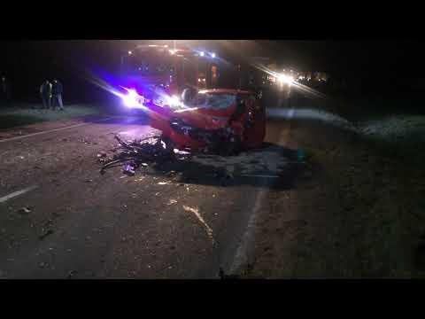 Wideo1: Wypadek na DK 12 w Lasocicach