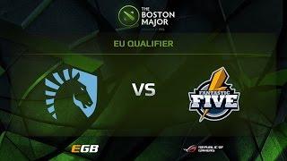 Team Liquid sv Fantastic Five, Boston Major EU Qualifiers