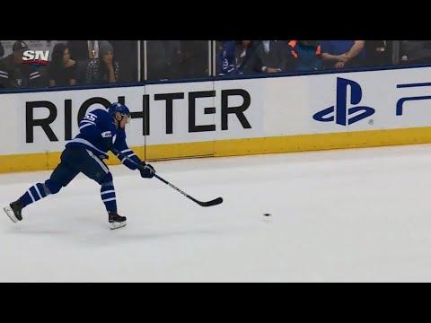 Video: Borgman's shot deflects off Duchene, gets Maple Leafs on board