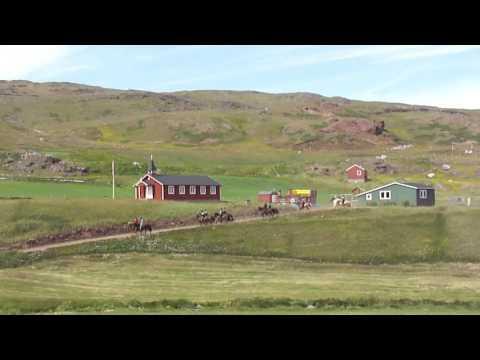 Qassiarsuk, Greenland 90th anniversary horse riding