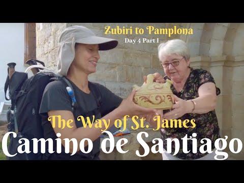 Camino de Santiago | Day 4 Part 1 | Act of KINDNESS! |  Zubiri to Pamplona | Camino Francés 2019
