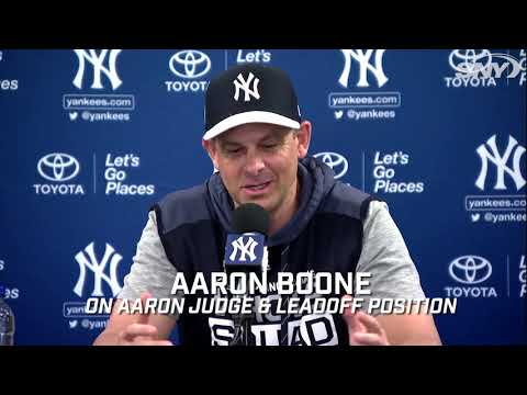 Video: Could Aaron Judge hit lead off for the Yankees in 2019?