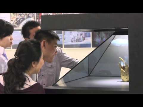 holographic animation - Leovation co-operated with a Hong Kong Gallery in showcasing one of their valuable art pieces, together with tailor-made holographic animation, with DreamocX...