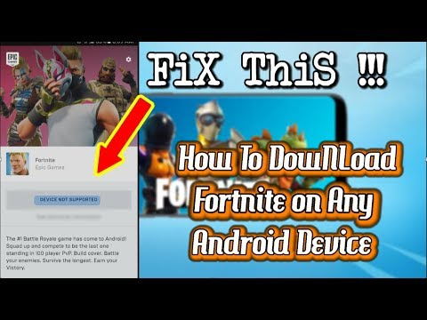 How To Play Fortnite On Any Android Device | Proof With MatCh Gameplay