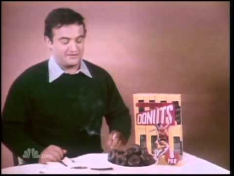 John Belushi -- Little chocolate donuts