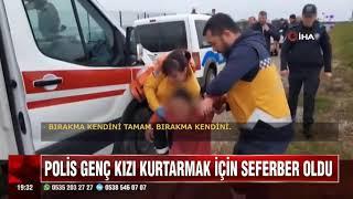 SAMSUN'DA DENİZE ATLAYAN GENÇ KIZI POLİS KURTARDI!