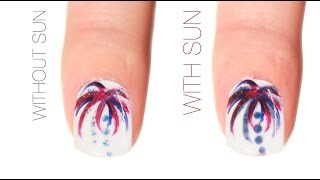 Firework Color-Changing Nail Art Design