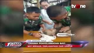 Wawancara tvOne Bersama Anggota TNI Penyelamat Bayi Korban Banjir Bandang di Jayapura, Papua