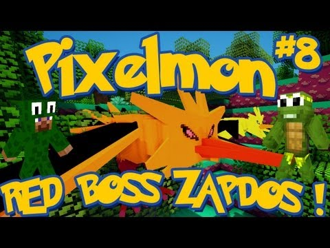 Pixelmon RED BOSS ZAPDOS! Minecraft Pokemon Mod LittleLizardG & TinyTurtleG Special Episode 8