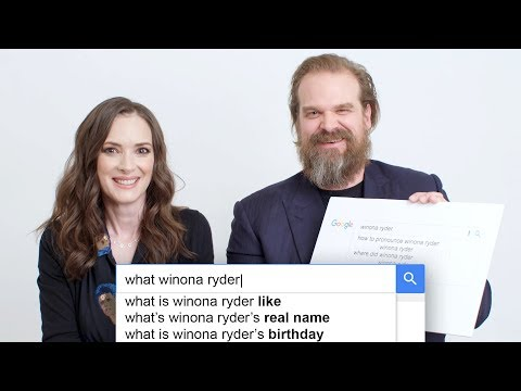 Stranger Things Winona Ryder  David Harbour Answer the Internet s Most Searched Questions About