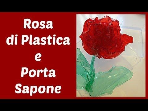 riciclo creativo - come decorare un portasapone con un fiore di plastica
