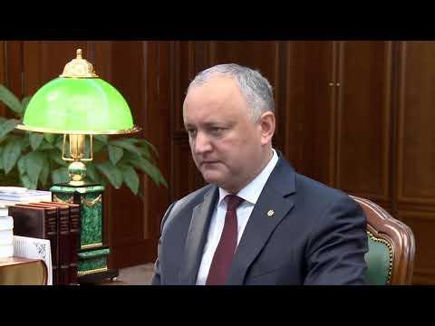Președintele Republicii Moldova a avut o întrevedere cu primarul general al Municipiului Chișinău