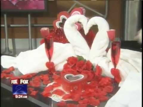 valentine napkin folding - http://foldingmagic.com How to make towel origami / cruise ship towel folding animals. Valentine's Day ideas. Towel origami directions. Towel origami instruc...